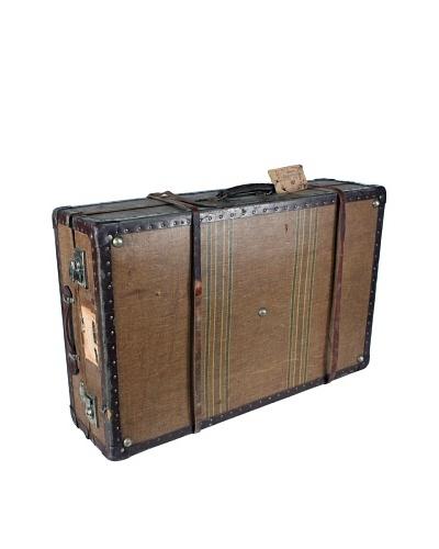 Swedish Hardside Suitcase, Brown/Tan