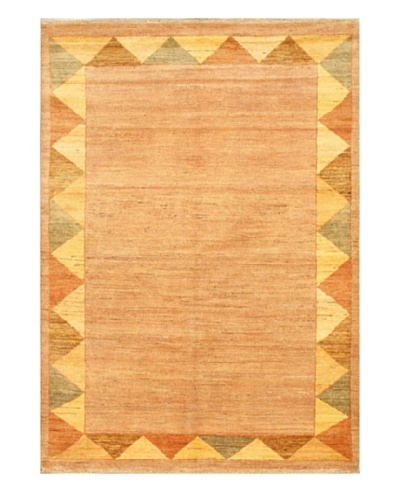 "Gabbeh Transitional Rug, Beige, 4' 9"" x 6' 9"""