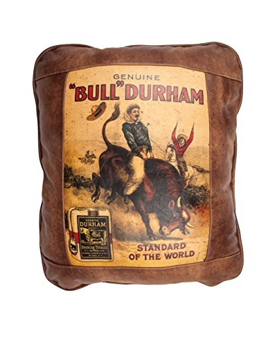 Bull Durham Leather Pillow, Brown