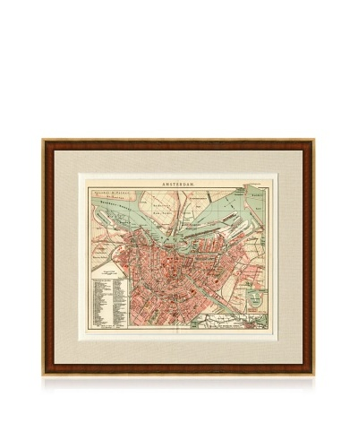 Antique Amsterdam 1890's Map