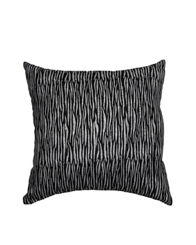 "Nimbus Pillow, Black/Silver, 18"" x 18"""