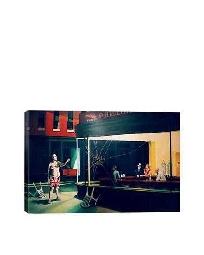 Banksy Nighthawks Canvas Print