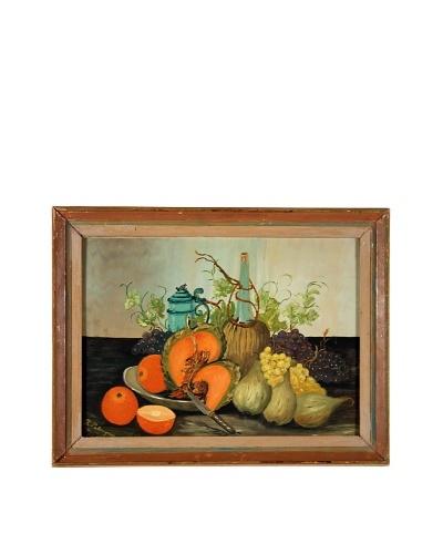 Cantaloupe Framed Still Life