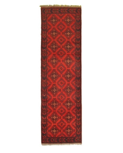Hand-knotted Finest Khal Mohammadi Traditional Runner Wool Rug, Red, 2' 8 x 9' 6 Runner