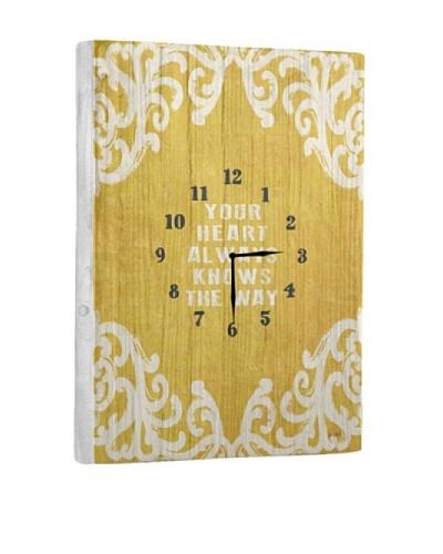 Your Heart Always Reclaimed Wood Clock