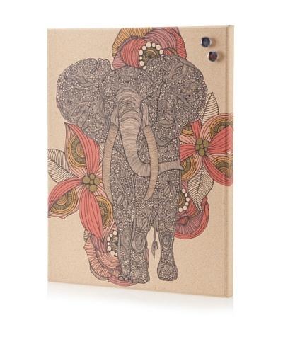 Valentina Ramos Elephant in Flower Giclee on Cork Board