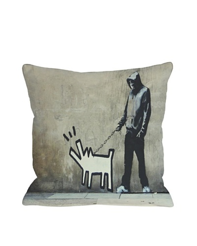 Banksy Choose Your Weapon Pillow