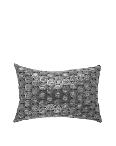 Self Sequin Pillow, Silver, 14 x 21