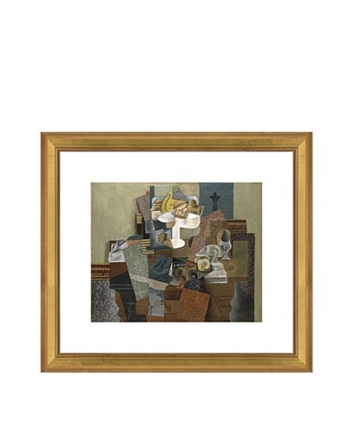 Pablo Picasso Still Life with Compote and Glass, Winter 1914-15 Framed Art