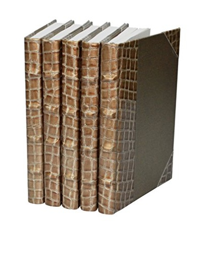 Set of 5 Exotic Croc Collection II Books, Copper
