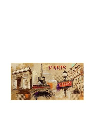 Paris Metro Hand-Painted Canvas