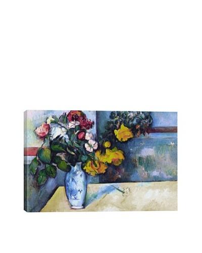 Paul Cezanne's Still Life: Flowers in a Vase Giclée Canvas Print