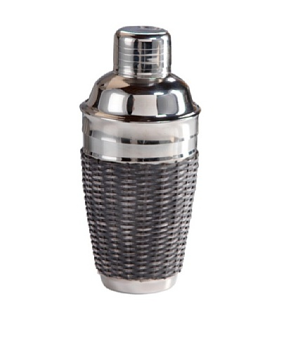 Woven Cane Cocktail Shaker
