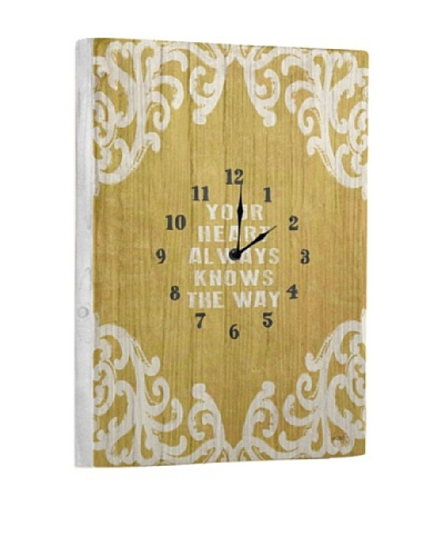 Your Heart Always Reclaimed Wood Clock