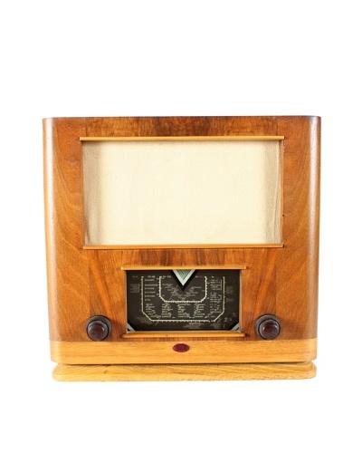 Mid-Century Modern International Radio, Brown/Gold/Black