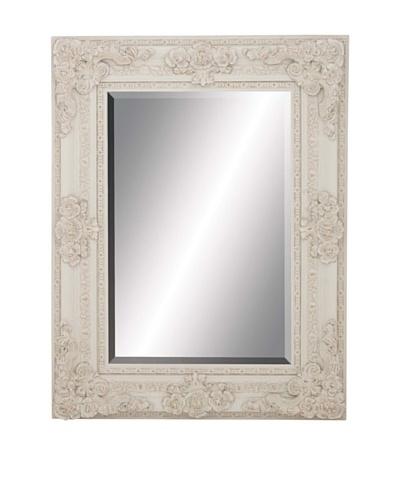 Wooden Wall Mirror II, White