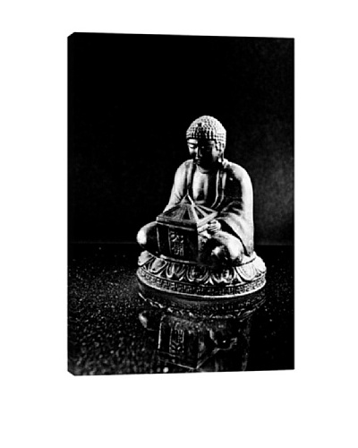 Stone Buddha Sculpture Photographic Giclée Canvas Print