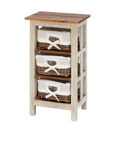 Solid Wood Rattan Cabinet