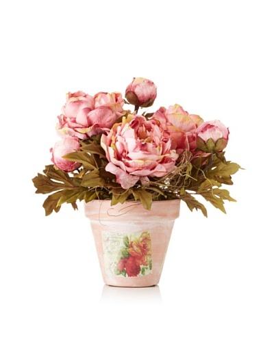 Peony Bouquet in Terra Cotta