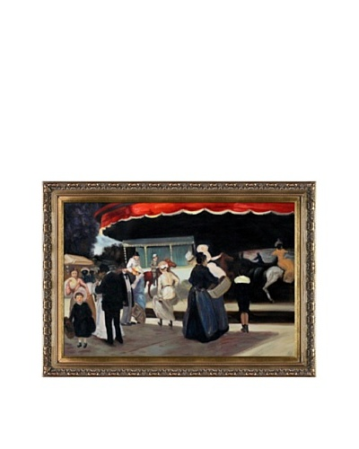Oil Reproduction of Alfred Maurer's Carrousel, 1901-02