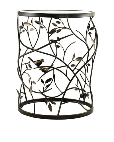 Large Barrel Table with Leaves