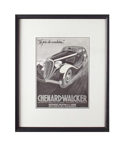 Original French Advertisement by Geo Ham, 1936