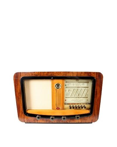 Sbr Vintage International Radio, Brown/Tan/Gold/Black