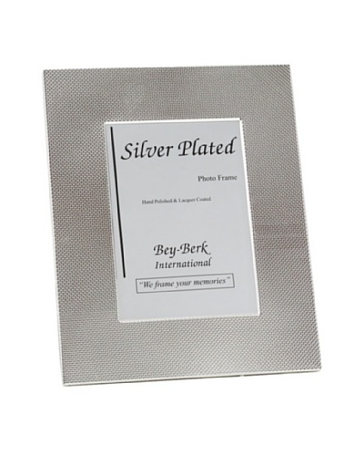 Silver-Plated Picture Frame with Easel Back, 5x7