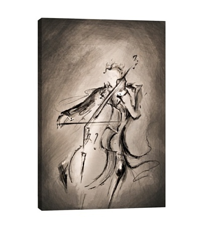 Marc Allante The Cellist Canvas Print
