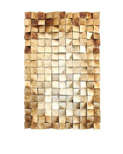 """Wooden Tile Wall Art, Gold, 47"""" x 30"""""""