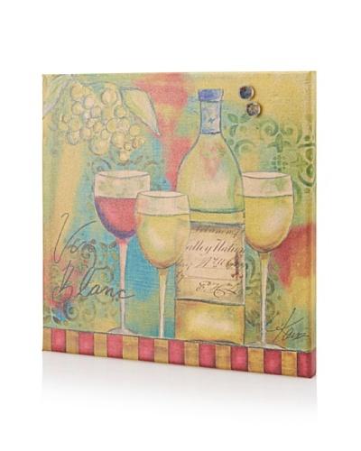 Lisa Kaus Vin Blanc Giclee on Cork Board