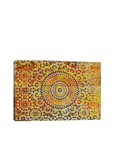 Indian Wood Pattern 2 by DarkLord Giclée Canvas Print