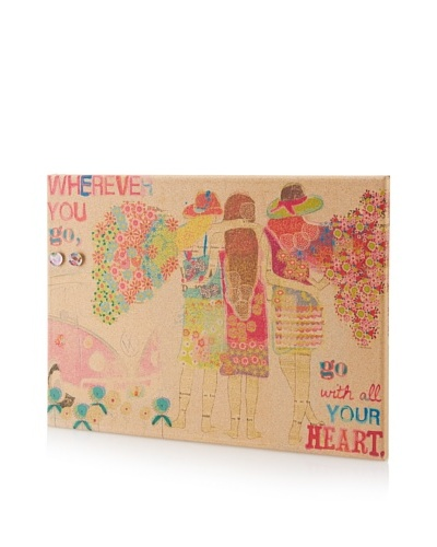 Maia Farrell Go with Your Heart Giclee on Cork Board
