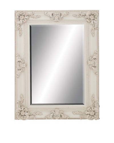 Wooden Wall Mirror I, White