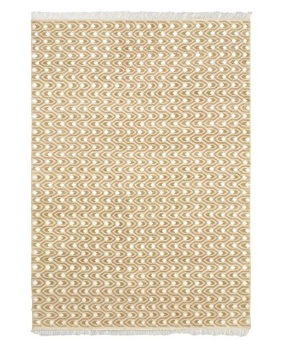Hand-Knotted Silk Touch Rug, Beige, 5' 6 x 7' 10