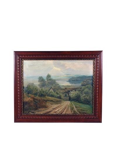 Lakeside Cottage Framed Artwork