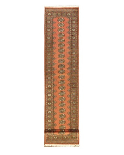"""Hand-knotted Finest Peshawar Bokhara Traditional Runner Wool Rug, Copper, 2' 6"""" x 15' Runner"""