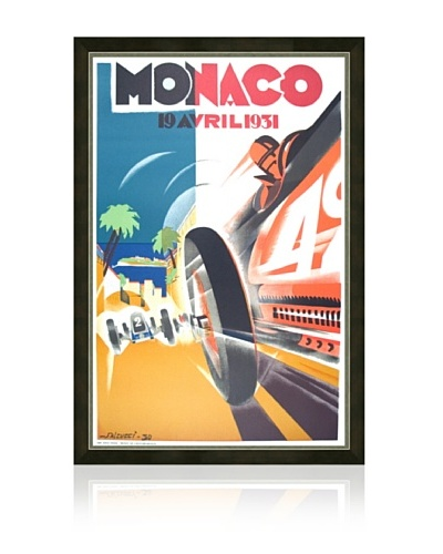 Reproduction 1931 Monaco Grand Prix Framed Print
