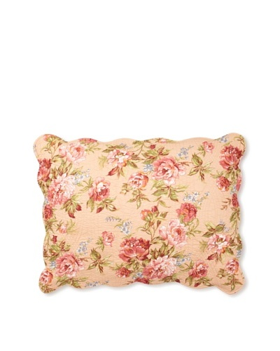 Clara Pillow Sham, Pink Rose, Standard