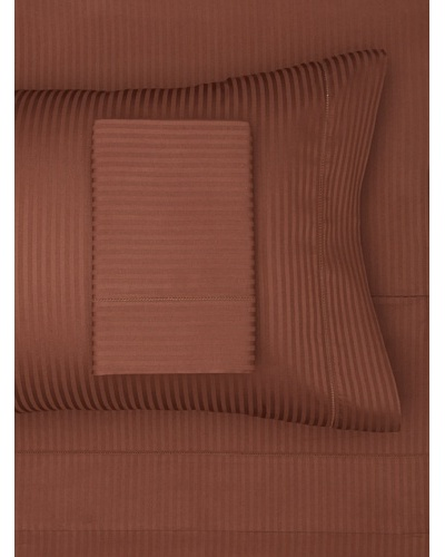 300 Thread Count Satin Stripe Sheet Set [Chocolate]