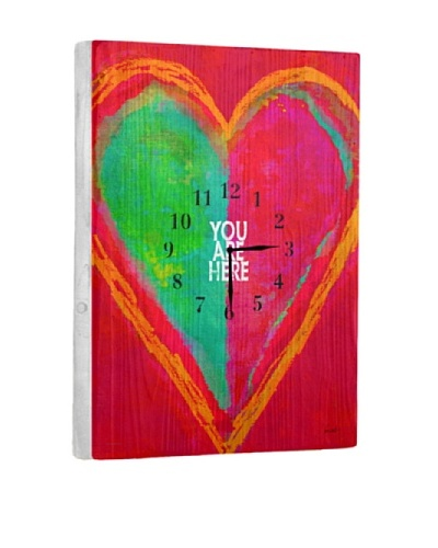 Your Are Here Reclaimed Wood Clock