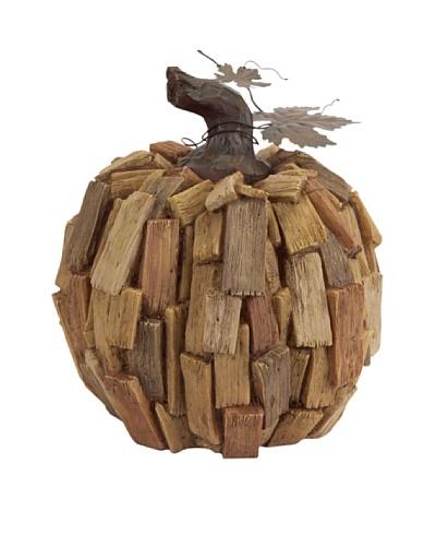 Melrose Large Driftwood Pumpkin, Natural