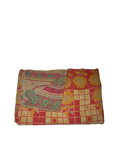 "Vintage Navneet Kantha Throw, Multi, 60"" x 90"""