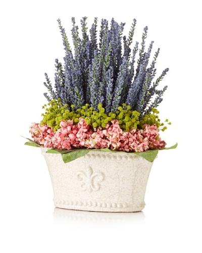 Lavender Baby's Breath Pot