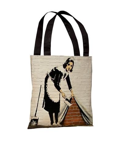 Banksy Under the Rug Tote Bag
