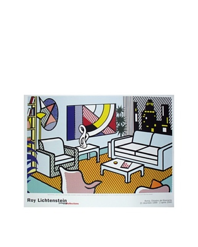 Roy Lichtenstein: Interior with Skyline Collage for Painting