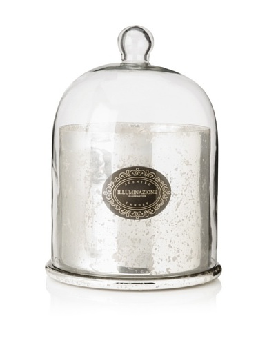 Domed Antique Silver French Red Currant Scented Candle, Large