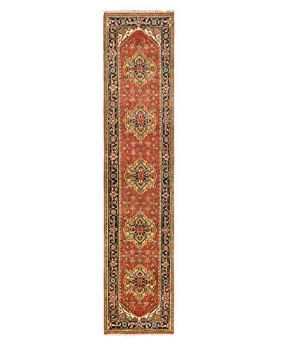 Hand-Knotted Serapi Heritage Wool Rug, Dark Copper, 2' 7 x 12' Runner