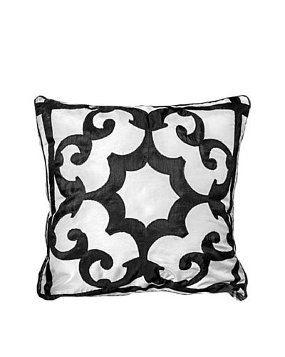 Polysatin Pillow, Black/White