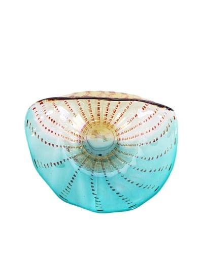 Glass Platter, Blue/White